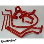 Roose Motorsport Land Rover Defender 300TDI 2.5 LHD (1993-1998) Silicone Coolant Hose Kit - RMS206CLHD
